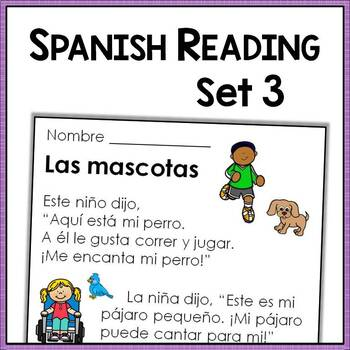 Spanish Reading Comprehension Passages with Text-Based Que