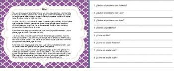 Spanish Reading Comprehension and Sequence of Events Activ