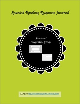 Spanish Reading Response Packet for Independent Work