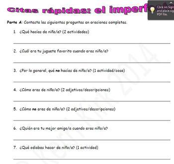 Spanish Realidades 2 4-A/4-B Speed Dating Activity to Prac