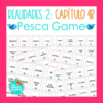 Spanish Realidades 2 Capítulo 4B Vocabulary ¡Pesca! (Go Fi