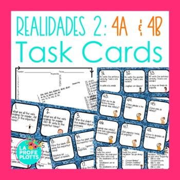 Spanish Realidades 2: Capítulos 4A & 4B Task Cards