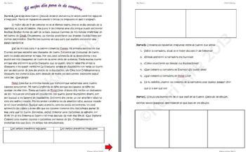 Spanish Realidades 2B Reading Comprehension Activity Vocab