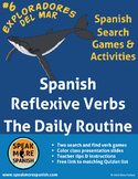 Spanish Reflexive Verb Game Daily Routine. Juego de verbos