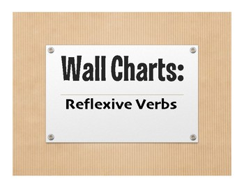 Spanish Reflexive Verb Wall Charts