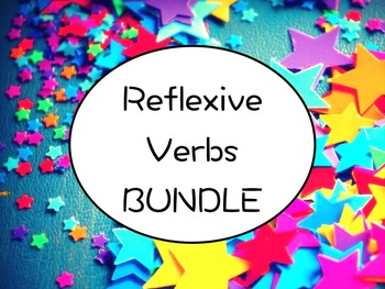 Spanish Reflexive Verbs BUNDLE- PowerPoint, Worksheets Pac