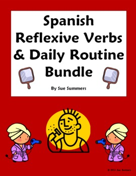 Spanish Reflexive Verbs Bundle - Vocabulary, 9 Worksheets,