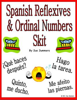 Spanish Reflexive Verbs & Ordinal Numbers Skit & Translati