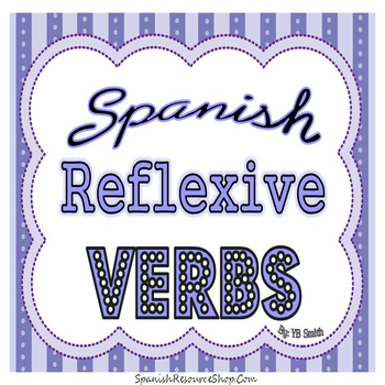 Spanish Reflexive Verbs PICTURE Notes Powerpoint BUNDLE