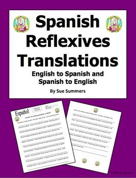 Spanish Reflexives Paragraph Translations - English/Spanis