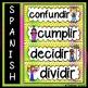 Spanish Regular ER & IR Present Tense Verb Word Wall