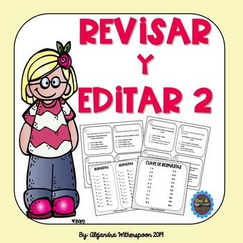 Spanish Revise and Edit Task Cards-REVISAR Y EDITAR