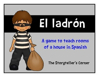 Spanish Rooms of a House Game - El ladrón