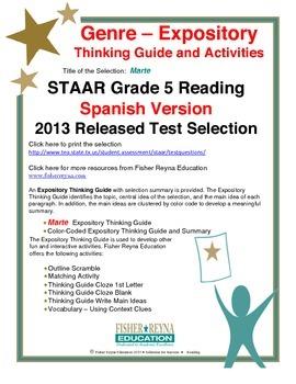 Spanish STAAR Analysis & Activities: Marte, Grade 5