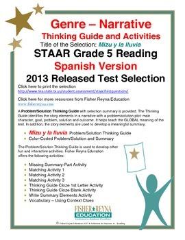 Spanish STAAR Analysis & Activities: Mizu y la lluvia, Grade 5