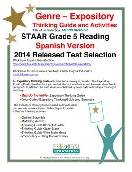 Spanish STAAR Analysis & Activities: Mundo Increible, Grade 5