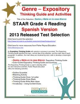 Spanish STAAR Analysis & Activities: Sasha y Malia en la c