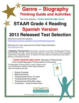Spanish STAAR Analysis & Activities: Tucker aprende algo n