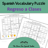 Spanish SUDOKU / WORDOKU:  2 puzzles for Back to School, Autumn