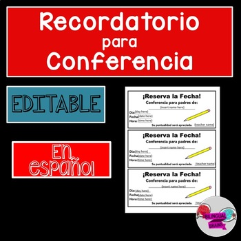 Spanish Save the date for conferences