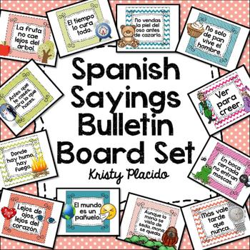 Spanish Sayings Bulletin Board Set (Dichos y Refranes)