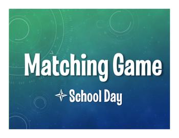 Spanish School Day Matching Game