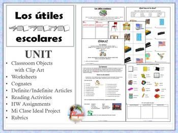 Spanish Classroom Objects Unit