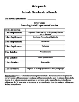 Spanish Science Fair Project Guide