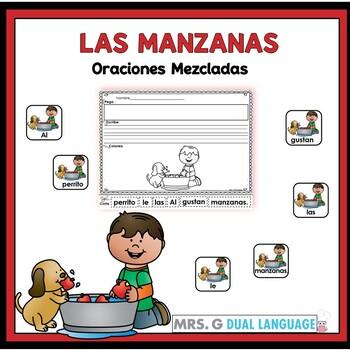 Spanish Scrambled Sentences: Apples    Oraciones mezcladas