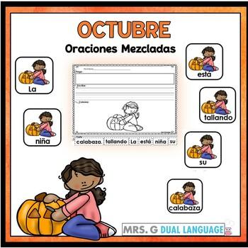 Spanish Scrambled Sentences for October