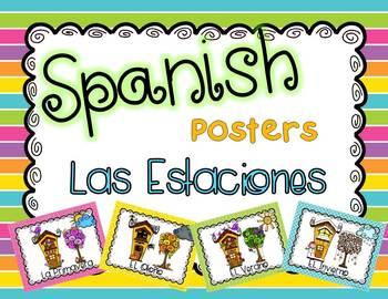 Spanish Seasons Posters