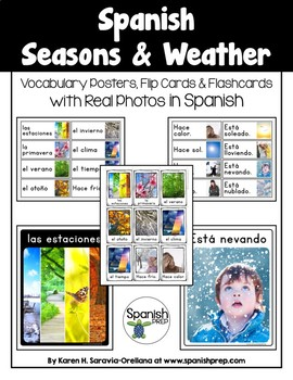 Spanish Seasons and Weather: Vocabulary Posters with Pictures