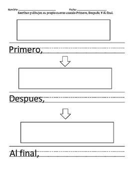 Spanish Sequencing Writing