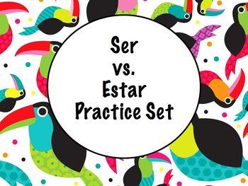 Spanish Ser versus Estar Practice Worksheet Set
