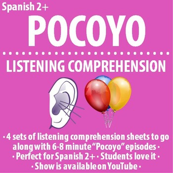 """Spanish - Set of FOUR """"Pocoyo"""" 7 minute video guides"""