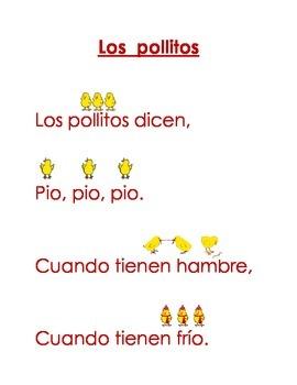 Spanish Shared Read- Los Pollitos Dicen