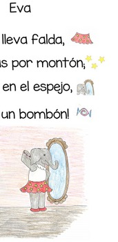 Spanish Shared Reading Poem to Introduce the E Vowel