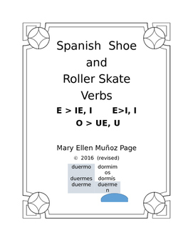 Spanish Shoe and Roller Skate Verbs Complete Book