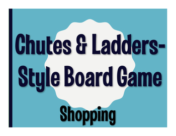 Spanish Shopping Chutes and Ladders-Style Game