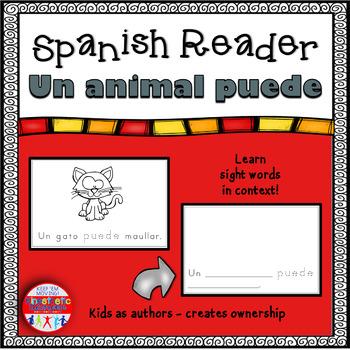 Spanish Reader - Un animal puede