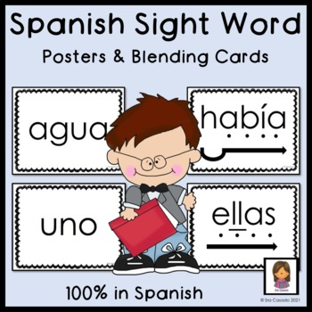 Spanish Sight Word Posters and Blending Cards