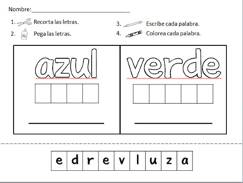 Spanish Sight Word Practice - colores y numeros by Dual Language ...