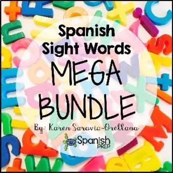 Spanish Sight Words Mega Bundle