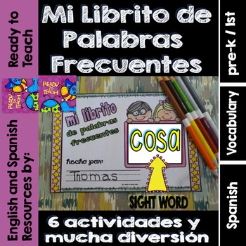Spanish Sight Words Mini Booklet: COSA