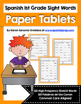 Spanish Sight Words Paper Tablets (1st Grade)