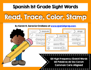 Spanish Sight Words Read Trace Color Stamp (1st Grade)