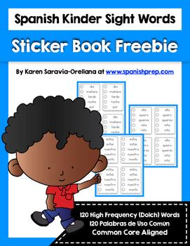 Spanish Sight Words Sticker Book (Primer) FREEBIE