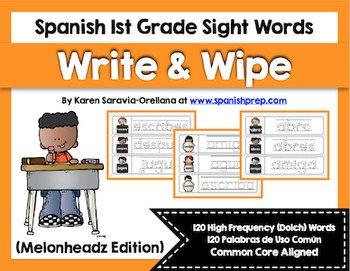 Spanish Sight Words Write & Wipe (1st Grade)