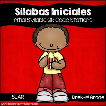 Spanish: Silabas Iniciales QR Code Word Work Stations