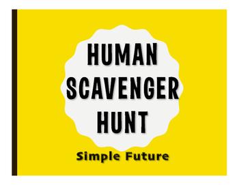 Spanish Simple Future Human Scavenger Hunt
